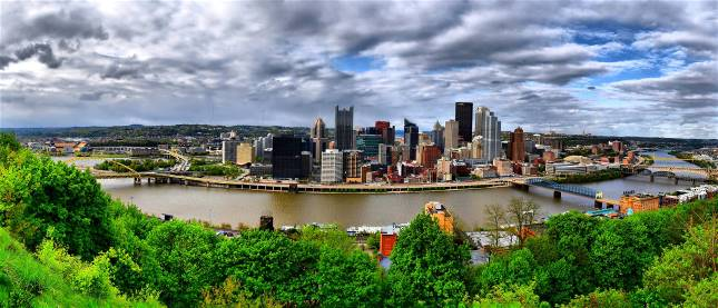 A panorama view of the city of Pittsburgh - 2006.