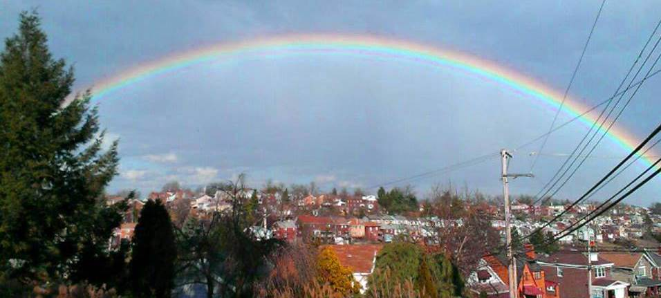 A rainbow over Brookline