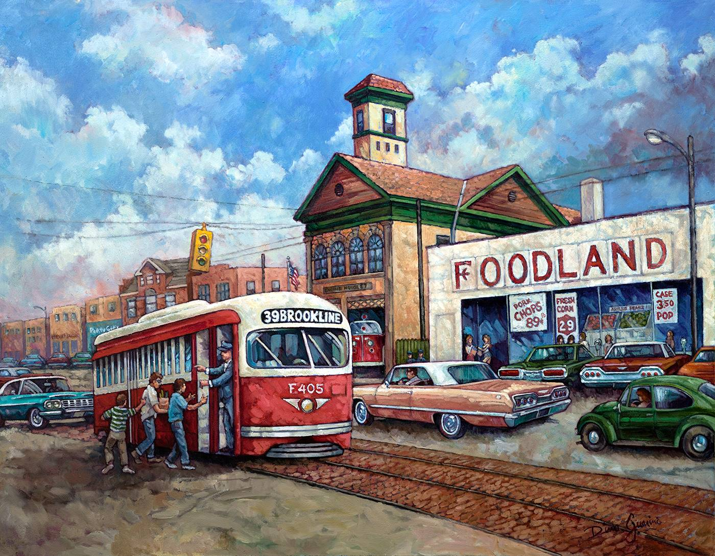 This is a painting done by renowned Brookline artist